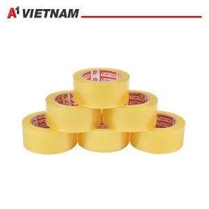 băng dính trong màu vàng chanh 48mmx50micx150Ya chính hãng giá tốt
