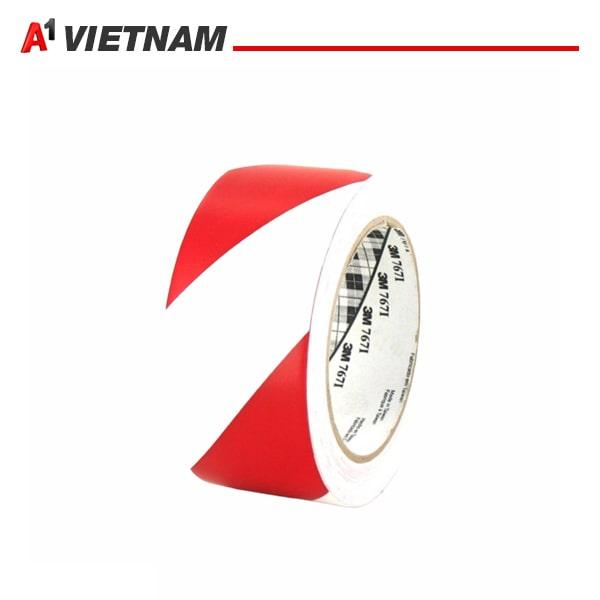 băng dính dán nền đỏ trắng 47mmx18m chính hãng giá tốt